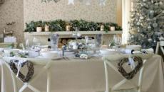 décoration intérieur et table de noel