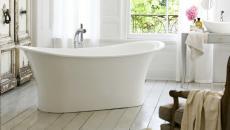 baignoire classique en blanc design luxe