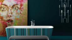 baignoire ancienne retro aspect salle de bains moderne design