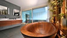 luxe design salle de bain bois