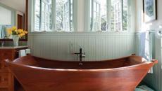 baignoire simple en bois design