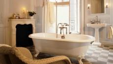 baignoire ancienne sur pied procelaine blanc