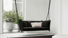 balançoire noir design luxe