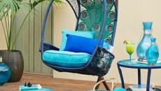 turquoise meuble balançoire outdoor jardin mobilier