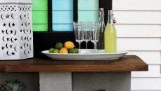 comptoir bar parpaings terrasse béton