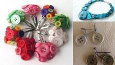 bijoux barrettes décorés boutons idées originales déco à faire soi-même