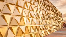 façade dorée marché couvert or