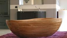 belle baignoire design luxe en bois