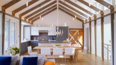 loft avec cuisine bicolore tendance