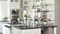 Le granit dans une belle cuisine en blanc