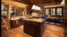 grande cuisine luxe en bois massif