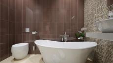 baignoire dans petite salle de bains