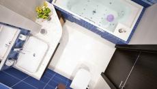 plan d'aménagement petite salle de bain d'appartement