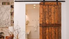 Porte coulissante design rustique