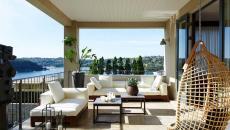 terrasse avec vue sur mer ameublement extérieur design