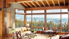 intérieur rustique de luxe chalet montagne