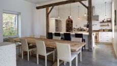 béton lisse design brut sol de cuisine