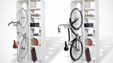 bibliothèque vélo maison design