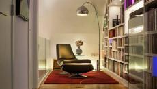 aménagement intérieur coin lecture agréable lampadaire design