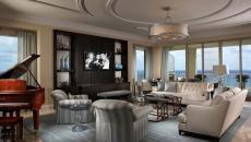 séjour luxueux design moderne avec vue mer