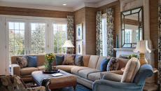 déco classique idées design intérieur salon en bleu