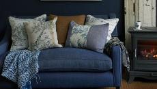 assise en bleu design intérieur maison chic
