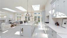 ambiance moderne sol de cuisine parquet stratifié