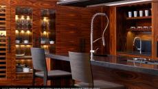 cuisine placards bois exotique artisanal