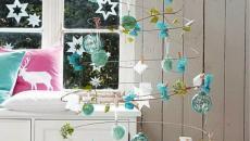 sapin de Noël boules de décoration brillantes