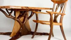 bureau chaise chêne design original massif