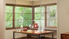 mur de verre design bureau à la maison