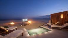 ambiance luxe sur la plage fête de Saint-Valentin
