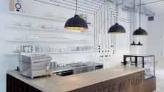 caisse comptoir bistro design minimaliste prague