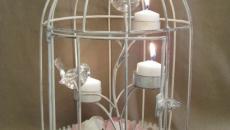 bougie cage à oiseaux romantique