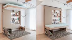 studio espace optimisé lit escamotable design