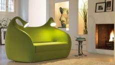 canapé deux place vert mobilier design