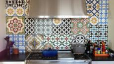 cuisine moderne et rétro en dosseret ciment