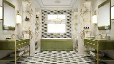 décoration salle de bains moderne carrelage design