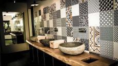 idées déco salle de bain moderne carrelage