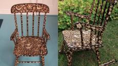 chaise gravure déco originale assise rétro