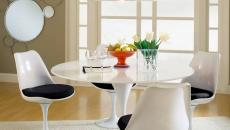 chaise tulipe dans un décor intérieur moderne