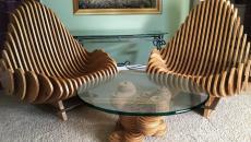 assise salon en bois design créatif