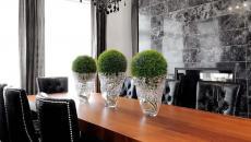 chaises design revêtement velours salle à manger