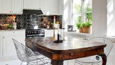 chaise en fil métallique cuisine moderne salle à manger