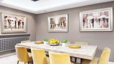 assises confortables salle à manger moderne