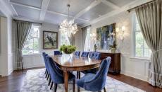 assises élégantes en velours salle à manger
