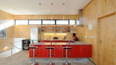 cuisine aménagée rustique en bois chalet