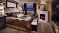 décoration chambre cheminée moderne