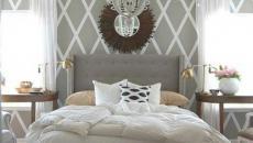 chambre à coucher déco classique en blanc et noir