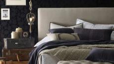 chambre à coucher en couleurs design sombres